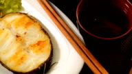 Grilled Sable fish,Gindara ,Chilean Sea Bass,Patagonian Toothfish,butterfish,Black Cod, with Soy Sauce video