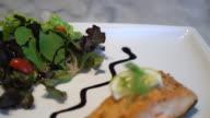 grilled salmon steak video
