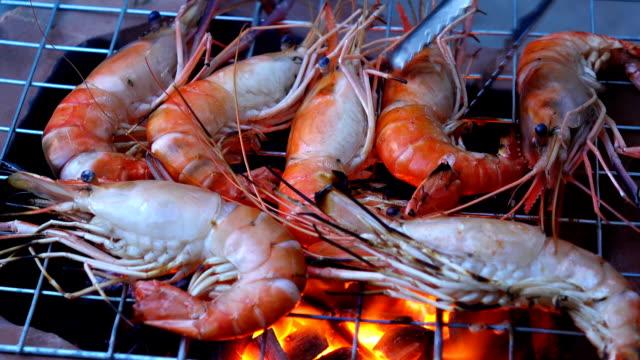Grilled Shrimps sea food video