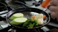 Grilled vegetables video