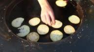 HD: Grilling Aubergine video