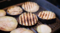grilling aubergine video