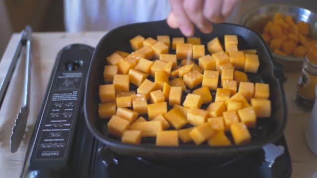 grilling butternut sqush video