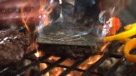 Grilling hamburgers video