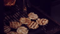 Grilling Meat On Barbecue video