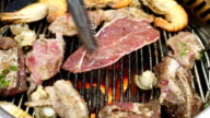 Grilling of Meat, vegetable and Sea Foods video
