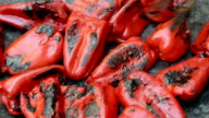 Grilling red peppers video