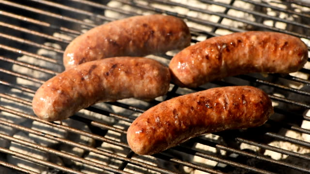 Grilling Sausage on the Barbecue video
