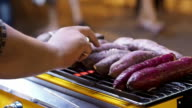 Grilling Sweet Potatoes. video