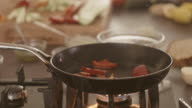 Grilling vegetables video