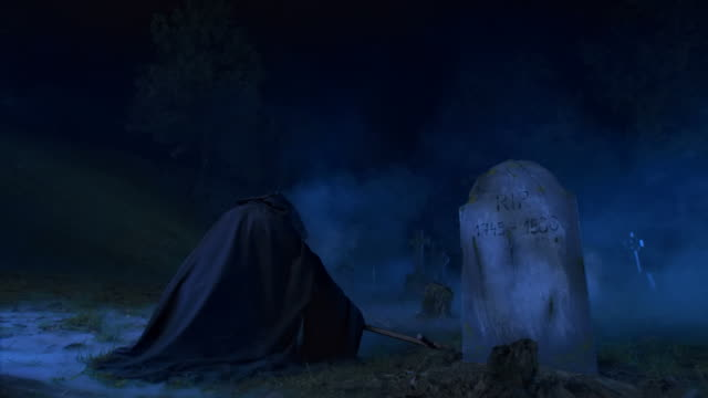HD DOLLY: Grim Reaper In Cemetary video