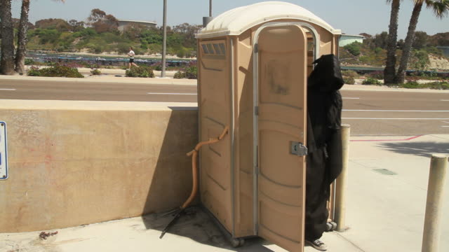 grim reaper porta potty video
