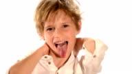 Grimacing child video