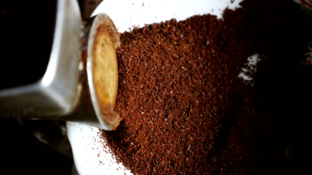 Grind coffee in an old coffee grinder video