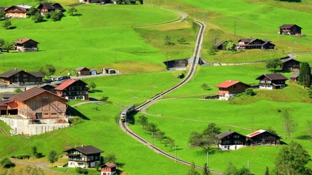 Grindelwald railway to Jungfrau mountain video
