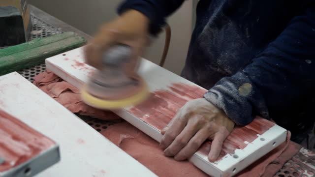 Grinding wood video