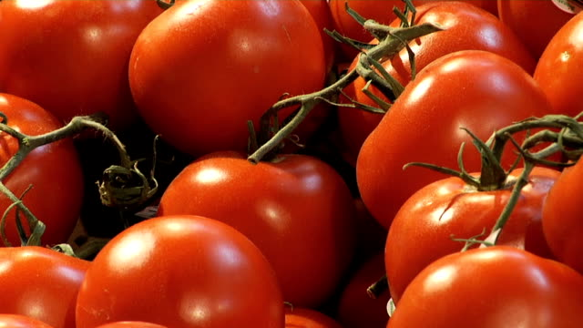 Grocery Store Tomatos Close Up video