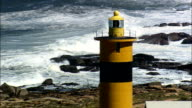 Groenriviermond Lighthouse  - Aerial View - Northern Cape,  South Africa video