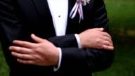 Groom in the wedding suit video