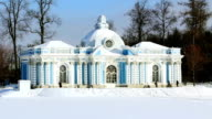 Grotto Pavilion in Pushkin city, St. Petersburg, Russia video