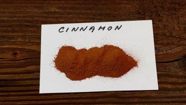 Ground cinnamon, cinnamon sticks video