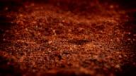 Ground Coffee Granules Rotating video