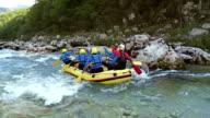 HD: Group Enjoying White Water Rafting video