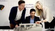 Group examine architecture model video