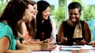 Group Multi Ethnic Teenage Students African American Teacher video