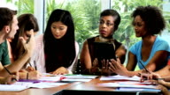 Group Multi Ethnic Teenage Students African American Teacher video