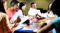 Group Multi Ethnic Teenage Students Ethnic Tutor video