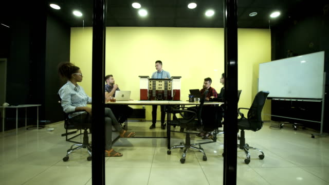 Group of architects in conference room video