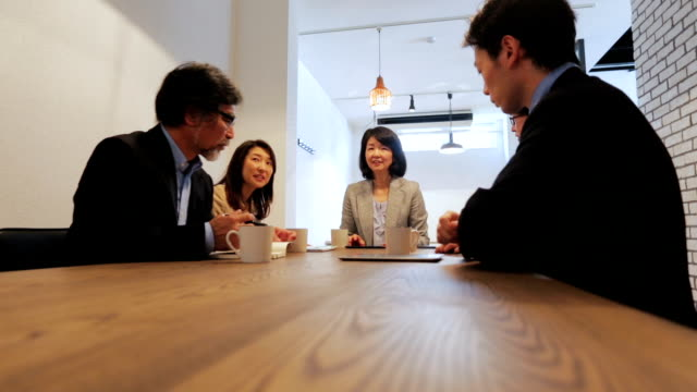 Group of Asian Business People Having a Meeting video