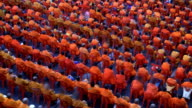 Group of Buddhist monks video