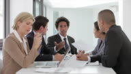 Group Of Business People Having Meeting In Office video