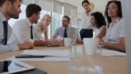 Group Of Businesspeople Meeting Around Table In Office video
