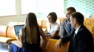 Group Of Businesspeople Meeting In Office video