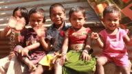 Group of Cheerful Rural Indian Children video