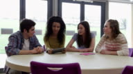 Group Of College Student Using Digital Tablet In Classroom video