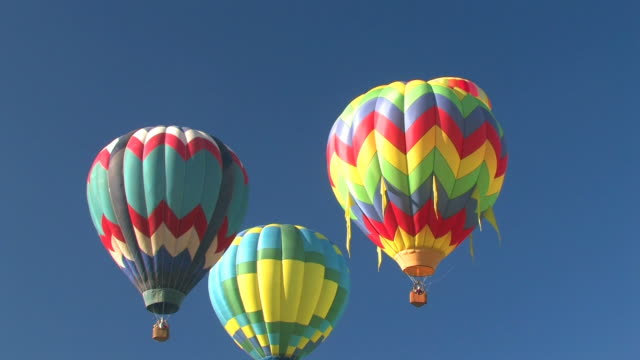 Group of Colorful Hot Air Balloons Flying video