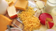 Group of dairy products video