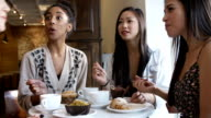 Group Of Female Friends Meeting In Café Restaurant video