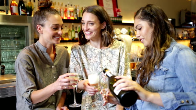 Group of Friends Celebrating in an Australian Bar video