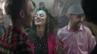 Group of friends having fun at nightclub video