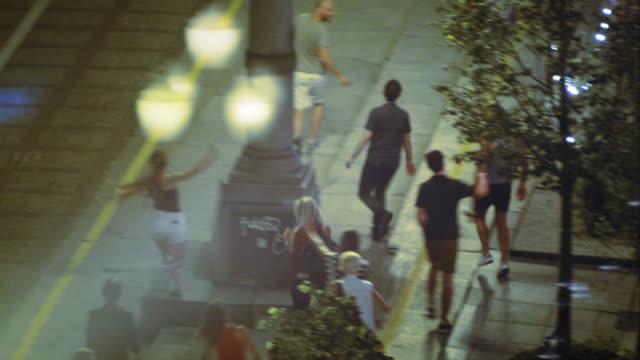 Group of Friends having fun on street . video