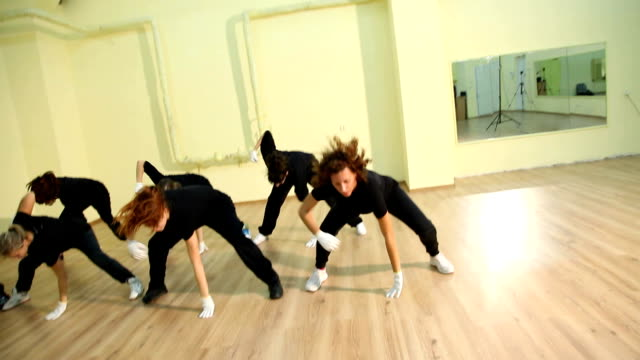 Group of hip hop dancers video