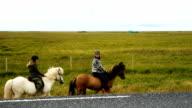 Group of horseback riders ride video