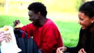 Group of multi ethnic teenagers video