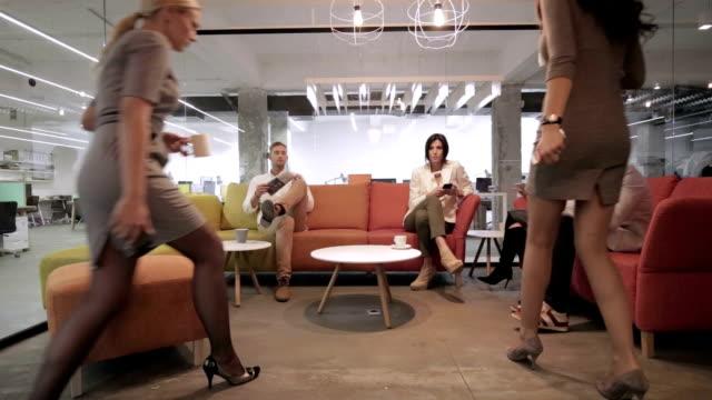 Group of people on a coffee break video
