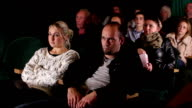 Group of people watching Movie at the cinema video